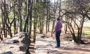 Praying at Mary Washington's Rock
